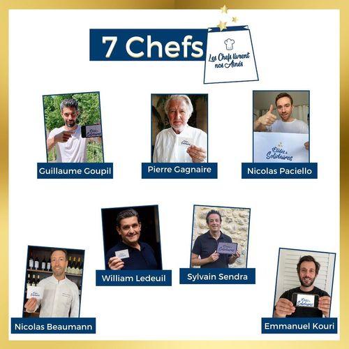 Les 7 chefs étoilés de l'opération les Chefs livrent nos Aînés