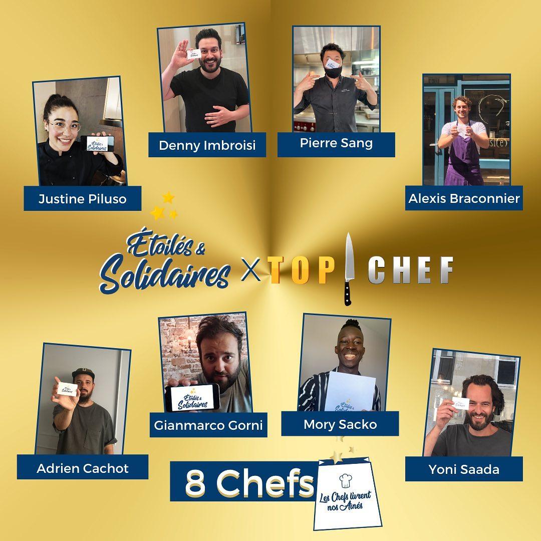 Les 8 Tops Chefs qui livrent nos aînés